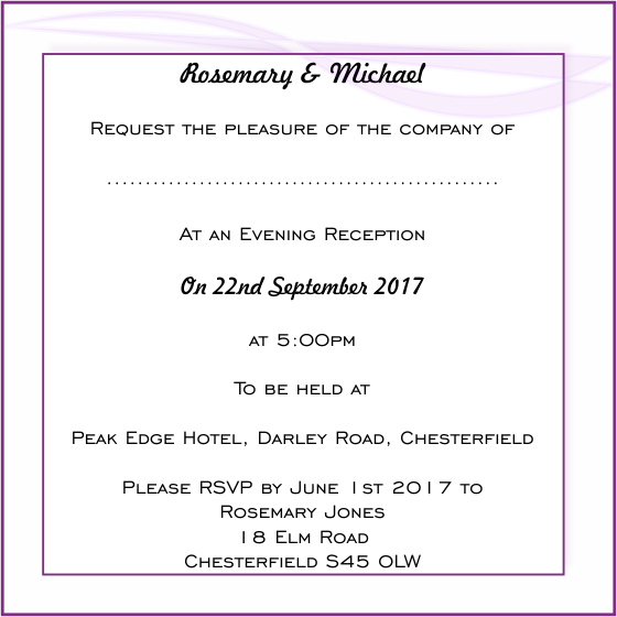 Wedding evening invitation wording bride groom evening invitation wording stopboris Gallery